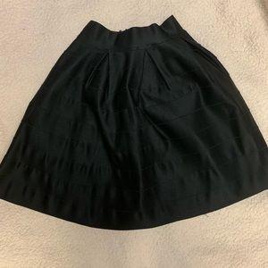 Bebe Black skater skirt